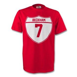 David Beckham Man Utd Crest Tee (red)
