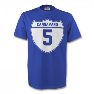 Fabio Cannavaro Italy Crest Tee (blue)