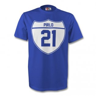 Andrea Pirlo Italy Crest Tee (blue) - Kids