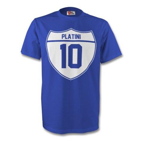 Michel Platini France Crest Tee (blue) - Kids