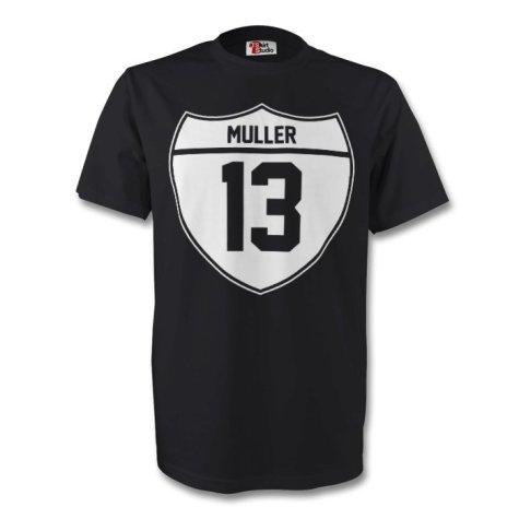 Thomas Muller Germany Crest Tee (black)