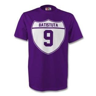 Gabriel Batistuta Fiorentina Crest Tee (purple) - Kids