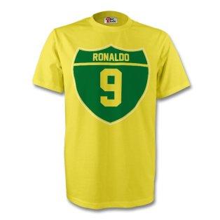 Ronaldo Brazil Crest Tee (yellow) - Kids
