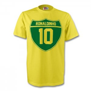 Ronaldinho Brazil Crest Tee (yellow)