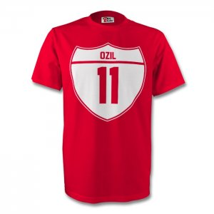 Mesut Ozil Arsenal Crest Tee (red)
