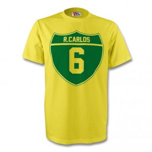 Roberto Carlos Brazil Crest Tee (yellow) - Kids