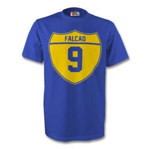 Radamel Falcao Colombia Crest Tee (blue) - Kids