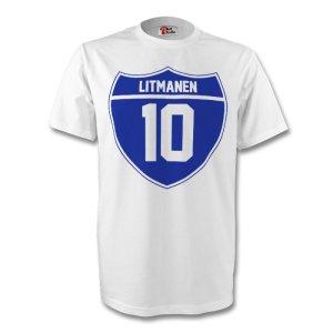 Jari Litmanen Finland Crest Tee (white)