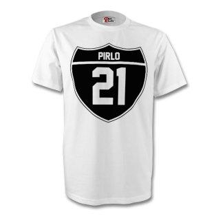 Andrea Pirlo Juventus Crest Tee (white) - Kids