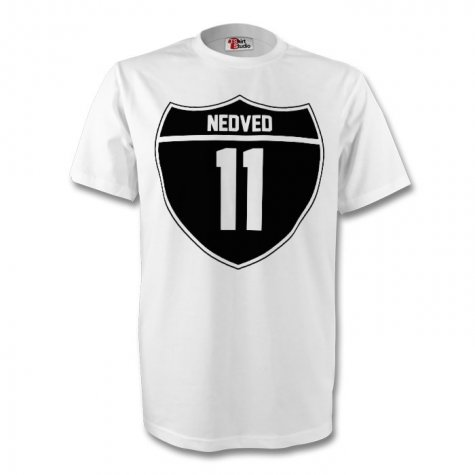 Pavel Nedved Juventus Crest Tee (white) - Kids