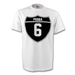 Paul Pogba Juventus Crest Tee (white) - Kids