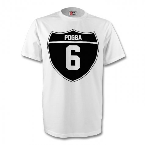 Paul Pogba Juventus Crest Tee (white)