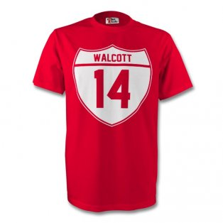 Theo Walcott Arsenal Crest Tee (red) - Kids