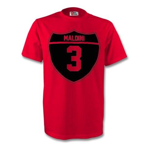 Paolo Maldini Ac Milan Crest Tee (red)