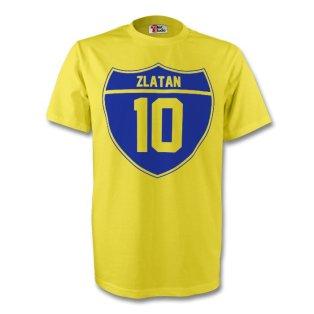 Zlatan Ibrahimovic Sweden Crest Tee (yellow) - Kids