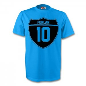 Diego Forlan Uruguay Crest Tee (sky Blue)