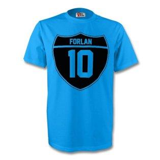 Diego Forlan Uruguay Crest Tee (sky Blue) - Kids