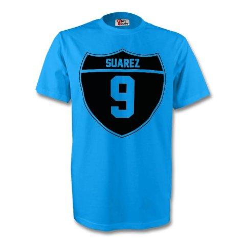 Luis Suarez Uruguay Crest Tee (sky Blue)