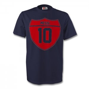 Lionel Messi Barcelona Crest Tee (navy)