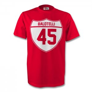 Mario Balotelli Liverpool Crest Tee (red)