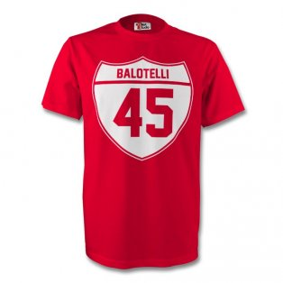 Mario Balotelli Liverpool Crest Tee (red)