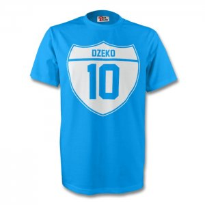 Edin Dzeko Man City Crest Tee (sky Blue) - Kids