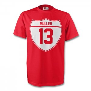 Thomas Muller Bayern Munich Crest Tee (red) - Kids