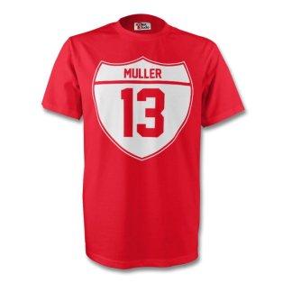 Thomas Muller Bayern Munich Crest Tee (red) - Kids