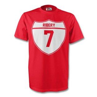 Franck Ribery Bayern Munich Crest Tee (red) - Kids