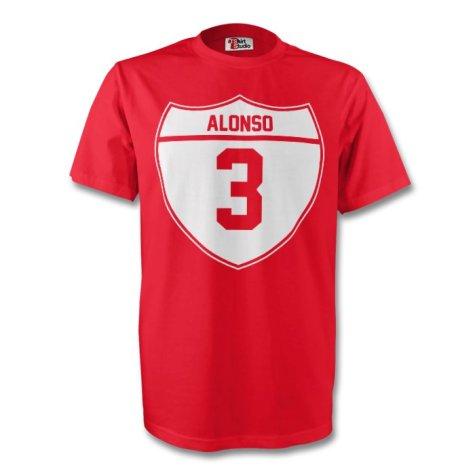 Xabi Alonso Bayern Munich Crest Tee (red) - Kids