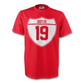 Mario Gotze Bayern Munich Crest Tee (red) - Kids