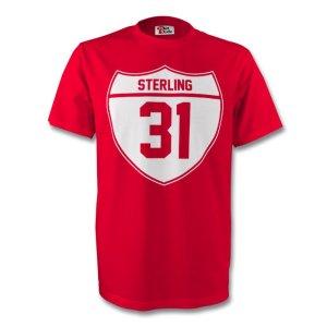 Raheem Sterling Liverpool Crest Tee (red) - Kids