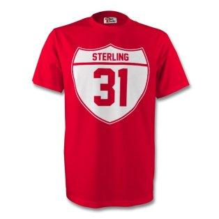 Raheem Sterling Liverpool Crest Tee (red)