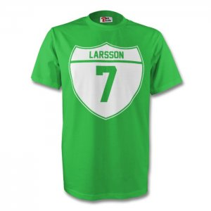 Henrik Larsson Celtic Crest Tee (green) - Kids