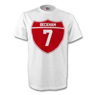 David Beckham England Crest Tee (white) - Kids