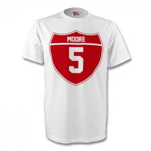 Bobby Moore England Crest Tee (white) - Kids