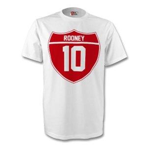 Wayne Rooney England Crest Tee (white) - Kids