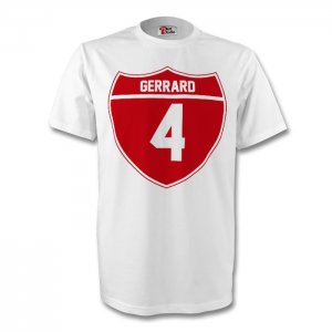 Steven Gerrard England Crest Tee (white) - Kids