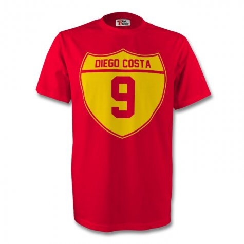Diego Costa Spain Crest Tee (red) - Kids