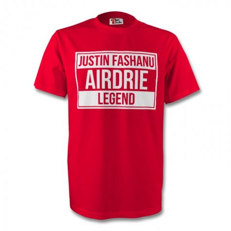 Justin Fashanu Airdrie Legend Tee (red)