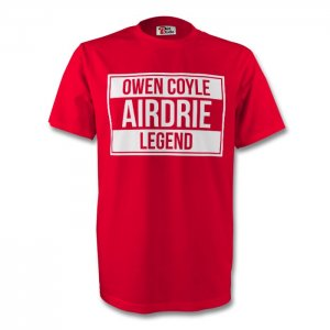 Owen Coyle Airdrie Legend Tee (red) - Kids