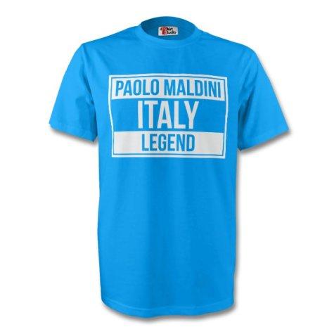 Paolo Maldini Italy Legend Tee (sky Blue)