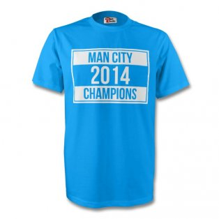 Manchester City 2014 Champions Tee (sky Blue)