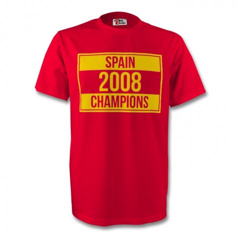Spain 2008 Champions Tee (red)