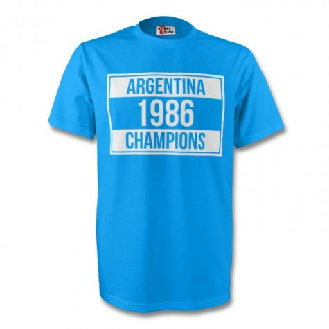 Argentina 1986 Champions Tee (sky Blue)