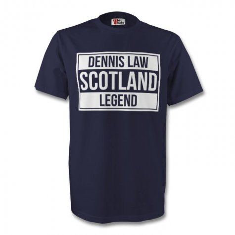 Dennis Law Scotland Legend Tee (navy) - Kids