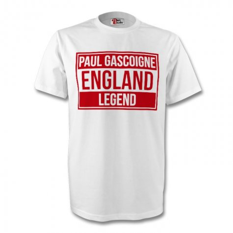 Paul Gascoigne England Legend Tee (white)