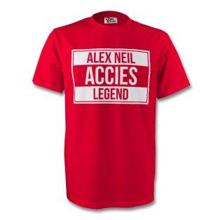 Alex Neil Hamilton Accies Legend Tee (red) - Kids