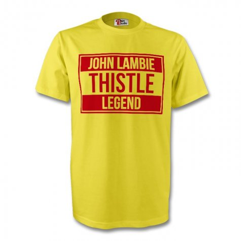 John Lambie Partick Thistle Legend Tee (yellow)