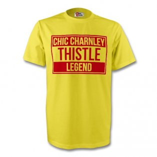 Chic Charnley Partick Thistle Legend Tee (yellow) - Kids